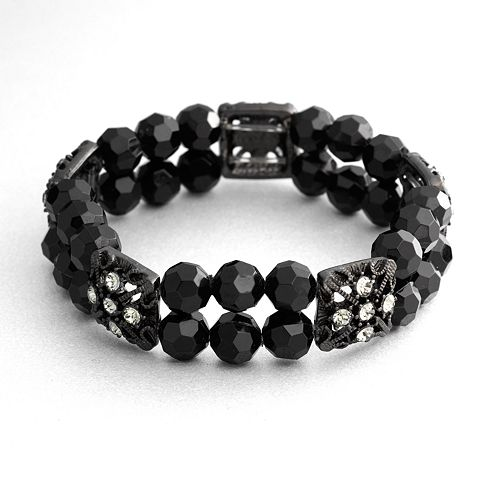 1928® Bead Double-Strand Stretch Bracelet