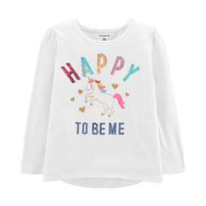 Toddler Girl Carter's Sequined Graphic Tee