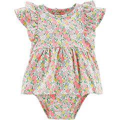 Baby Girl Carter's Floral Flutter Sleeved Bodysuit