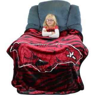 Arkansas Razorbacks Soft Raschel Throw Blanket
