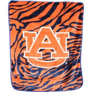 Auburn Tigers Soft Raschel Throw Blanket