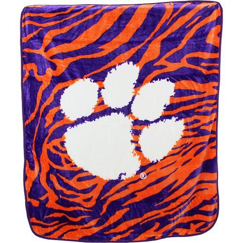 Clemson Tigers Soft Raschel Throw Blanket