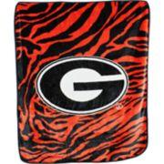 Georgia Bulldogs Soft Raschel Throw Blanket