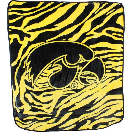 Iowa Hawkeyes Soft Raschel Throw Blanket