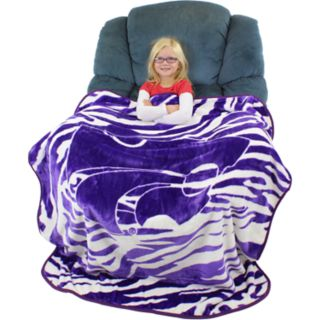 Kansas State Wildcats Soft Raschel Throw Blanket