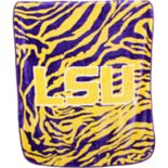 LSU Tigers Soft Raschel Throw Blanket