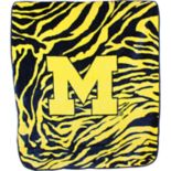 Michigan Wolverines Soft Raschel Throw Blanket