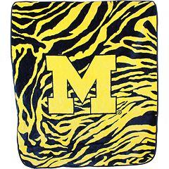 Michigan Wolverines Soft Raschel Throw Blanket
