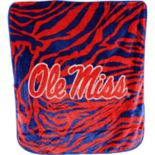 Ole Miss Rebels Soft Raschel Throw Blanket