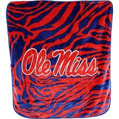 Ole Miss Rebels Soft Raschel Throw Blanket