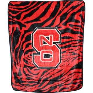 North Carolina State Wolfpack Soft Raschel Throw Blanket