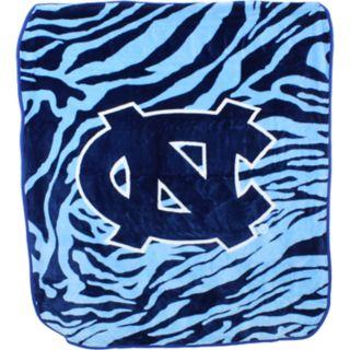 North Carolina Tar Heels Soft Raschel Throw Blanket