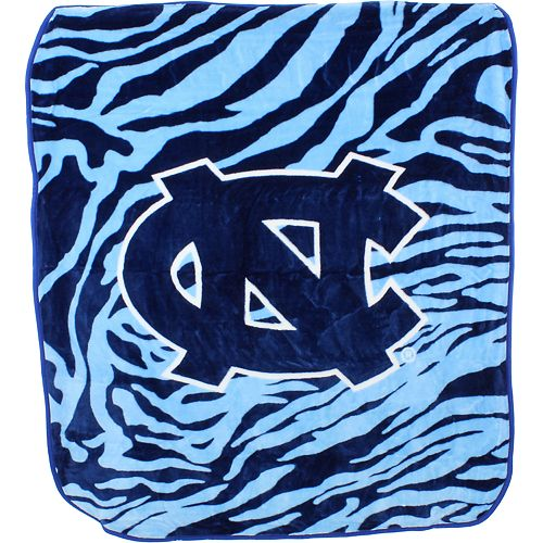 North Carolina Tar Heels Soft Raschel Throw Blanket