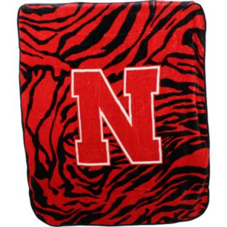 Nebraska Cornhuskers Soft Raschel Throw Blanket