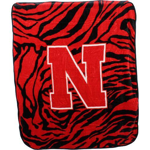 Nebraska Cornhuskers Soft Raschel Throw Blanket