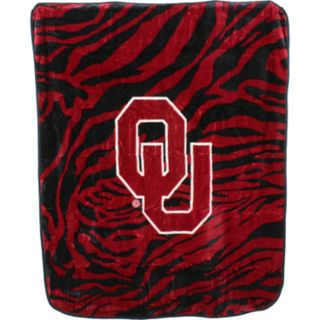 Oklahoma Sooners Soft Raschel Throw Blanket