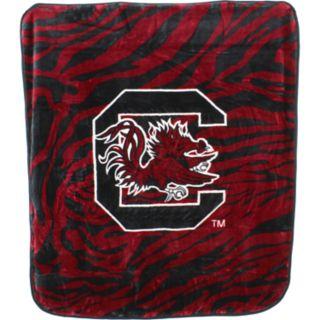 South Carolina Gamecocks Soft Raschel Throw Blanket
