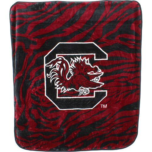 South Carolina Gamecocks Soft Raschel Throw Blanket