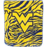 West Virginia Mountaineers Soft Raschel Throw Blanket