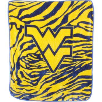 West Virginia Mountaineers Soft Raschel Throw Blanket