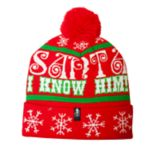"Buddy the Elf ""Santa I Know Him!"" Cuffed Pom Beanie"