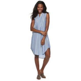 Women's Sharagano Sleeveless High-Low Shirt Dress