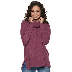 Juniors' SO® Cowlneck Tunic Sweater