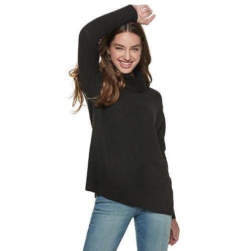 Juniors' SO® Cowlneck Tunic Sweater