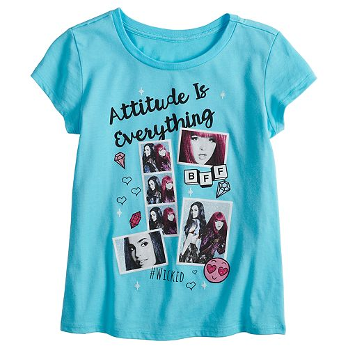 "Disney's Descendants Girls 7-16 ""Attitude Is Everything"" Graphic Tee"