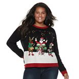 Juniors' Plus Size It's Our Time Musical Trio Christmas Sweater