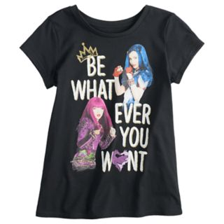"""Disney's Descendants Girls 7-16 """"Be Whatever You Want"""" Graphic Tee"""