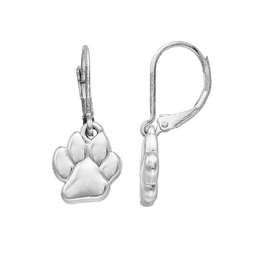 Pet Friends Paw Print Drop Earrings