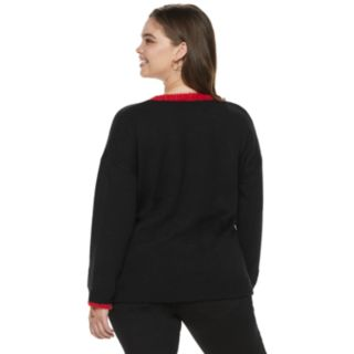 """Juniors' Plus Size It's Our Time """"Sleighing It"""" Christmas Sweater"""