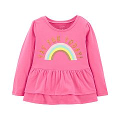 Toddler Girl Carter's Tiered-Hem Rainbow Graphic Tee