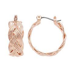 Dana Buchman Cross Hoop Earrings