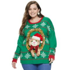 Womens Plus Christmas Sweaters Tops Clothing Kohls