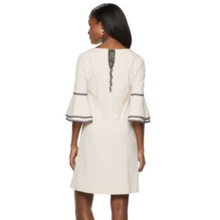 Women's Sharagano Ribbon Trim Bell Sleeve Dress