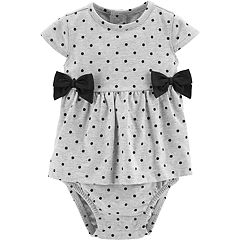 Baby Girl Carter's Polka-Dot Bow Sunsuit