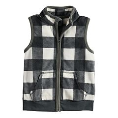 Toddler Boy Jumping Beans® Microfleece Checked Vest