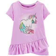 Girls 4-14 Carter's Unicorn Graphic Ruffled Top