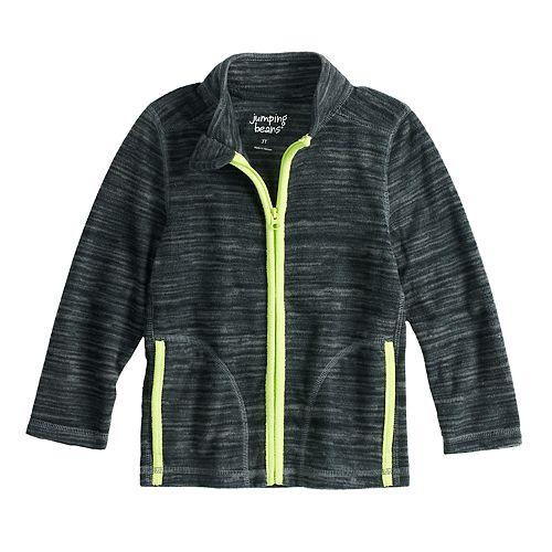 Toddler Boy Jumping Beans® Space Dyed Microfleece Zip Lightweight Jacket
