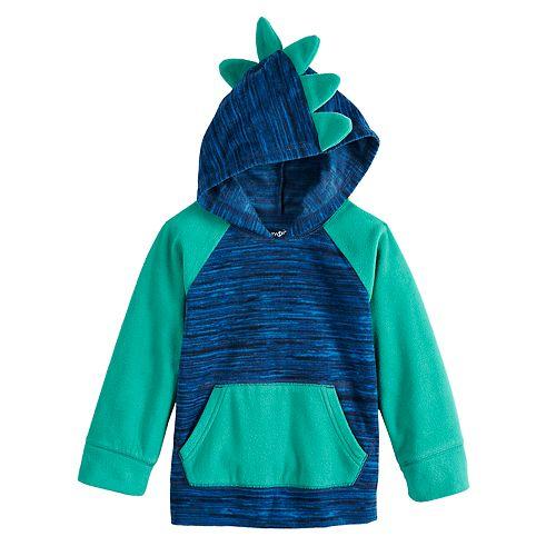 Toddler Boy Jumping Beans® Fleece Dinosaur Pullover Hoodie