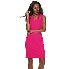 Women's Sharagano Grommet Sleeveless Dress
