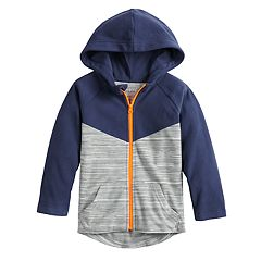 Toddler Boy Jumping Beans® Colorblock Microfleece Zip Hoodie