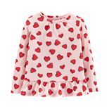 Toddler Girl Carter's Heart Cut-Out Back Top