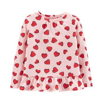 Toddler Girl Carter's Heart Cut-Out Back Top