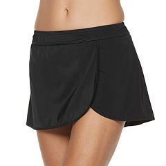 Women's A Shore Fit Hip Minimizer Faux-Wrap Skirtini Bottoms