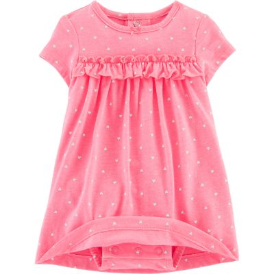 Baby Girl Carter's Heart Bodysuit Dress & Cardigan Set