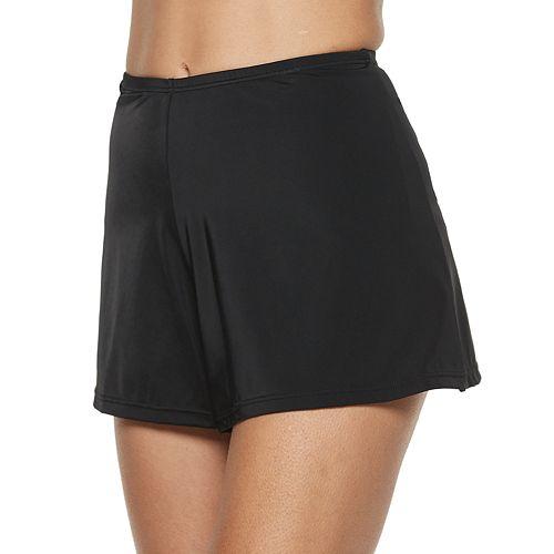 Women's A Shore Fit Hip Minimizer Solid Swim Shorts