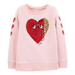 Girls 4-14 Carter's 'Magic Heart' Flip-Sequin Graphic Sweatshirt